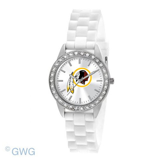 Washington Redskins Game Time NFL Frost White Silicone Women's Watch MTO