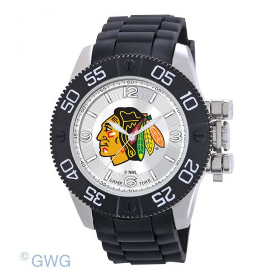 Chicago Blackhawks Game Time NHL Beast Black Polyurethane Men Watch MTO