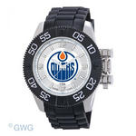 Edmonton Oilers Game Time NHL Beast Black Polyurethane Men Watch MTO