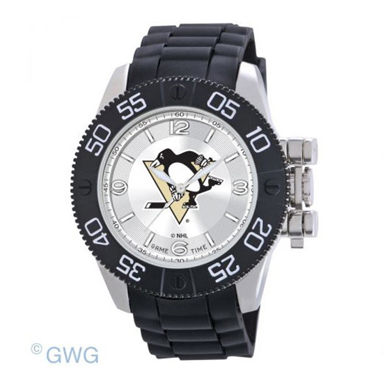 Pittsburgh Penguins Game Time NHL Black Polyurethane Men Watch MTO