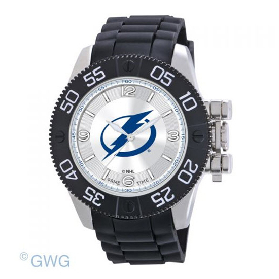 Tampa Bay Lightning Game Time NHL Black Polyurethane Men Watch MTO