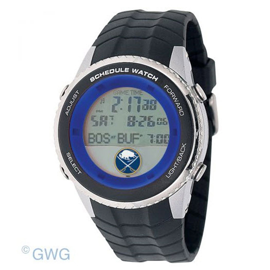 Buffalo Sabres Game Time NHL Schedule Digital Black Men's Watch MTO