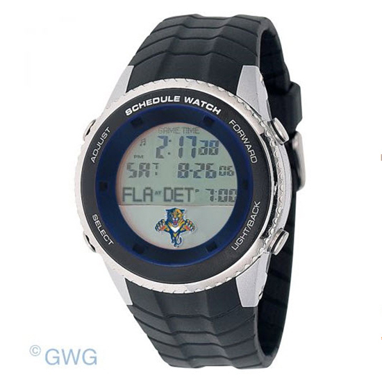 Florida Panthers Game Time NHL Schedule Digital Black Men's Watch MTO