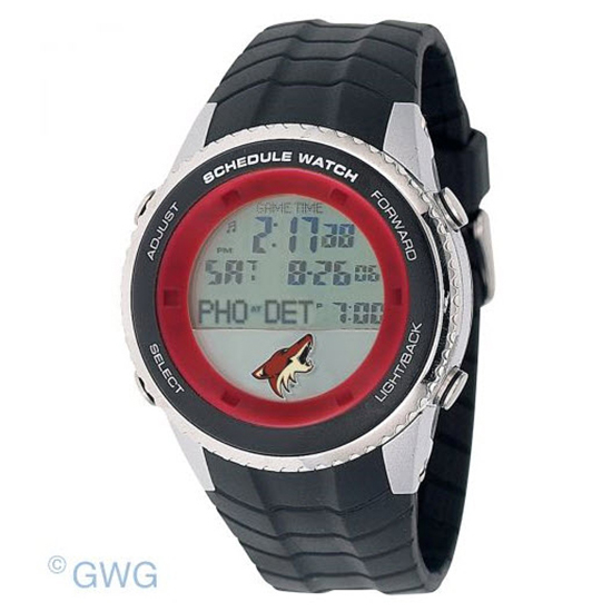 Phoenix Coyotes Game Time NHL Schedule Digital Black Men's Watch MTO