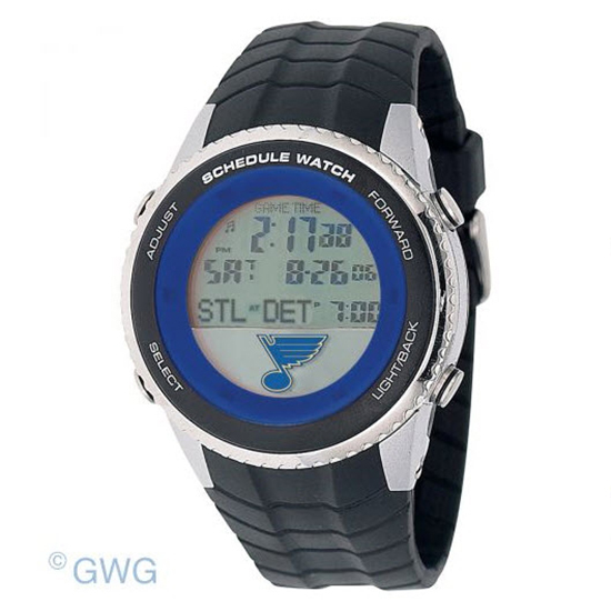 St Louis Blues Game Time NHL Schedule Digital Black Men's Watch MTO