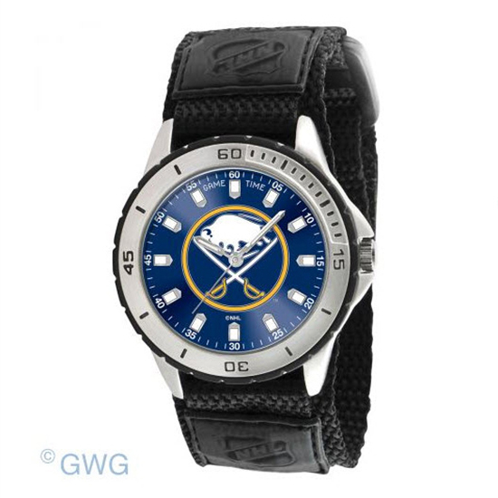 Buffalo Sabres Game Time NHL Veteran Black Nylon Men's Watch MTO