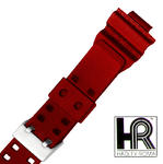 Hadley Roma MS3220 16mm Red Polyurethane Men's Diver Watch Band SPO