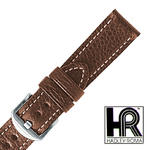 Hadley Roma MS2036 24mm Brown Gen Vegetable Tanned Stitch Men Watch Band SPO