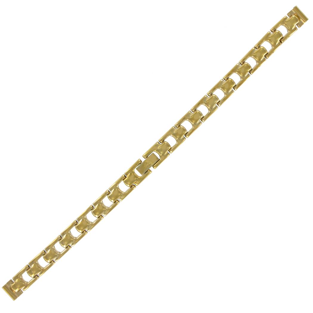 """Gold Band Bracelet: 4"""" Ladies Link Bracelet"""