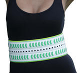 Nanette Lepore Wide Tribal Runway Belt Vachetta Green White Size Medium Thumbnail 1