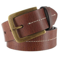 Via Spiga Brown Genuine Leather Mens Belt Contrast Stitched Size 38 Thumbnail 4