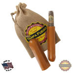 Tampa Fuego Cigar Case Genuine Leather Natural Lined Single Father's Day Thumbnail 1