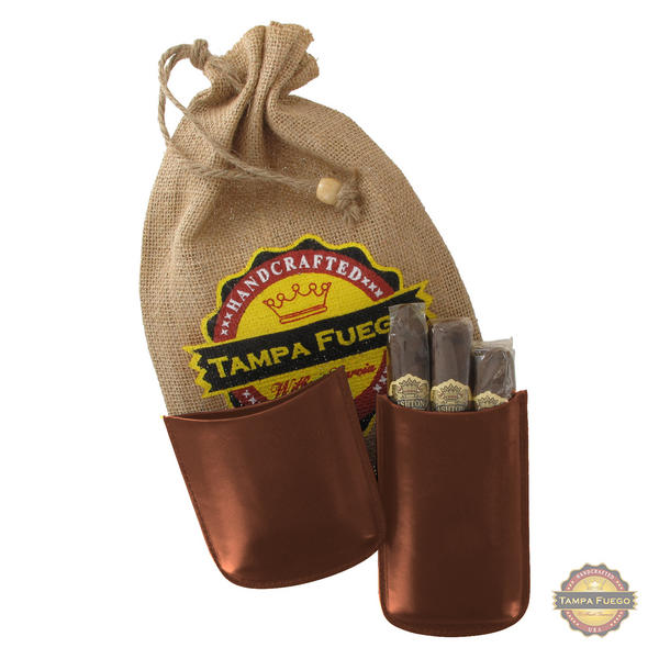 Tampa Fuego Cigar Case Genuine Leather Cognac Lined Robusto - SPO
