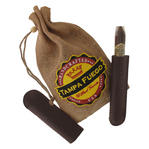Tampa Fuego Cigar Case Crocodile Grain Genuine Leather Brown Single Father's Day