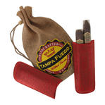 Tampa Fuego Cigar Case Crocodile Grain Genuine Leather Red Two Finger Thumbnail 6