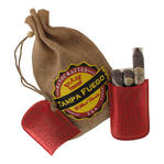Tampa Fuego Cigar Case Crocodile Grain Genuine Leather Red Robusto Thumbnail 2