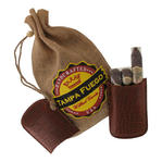 Tampa Fuego Cigar Case Crocodile Grain Genuine Leather Cognac Robusto- SPO Thumbnail 2