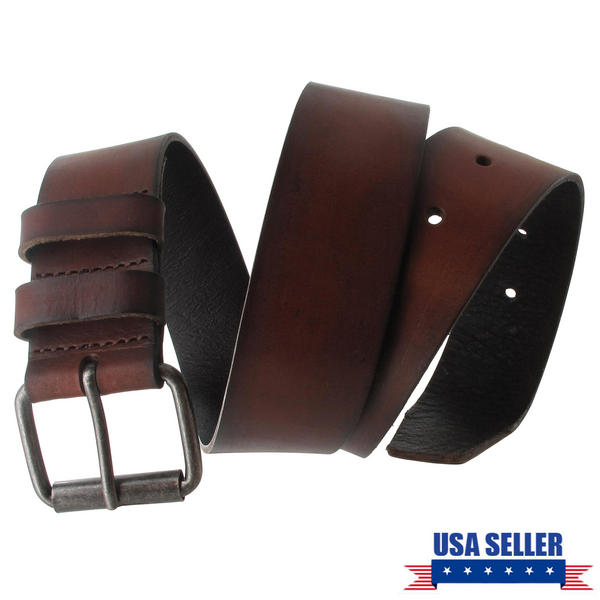 Via Spiga Brown Classic Genuine Leather Mens Belt Size 38