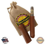 Tampa Fuego Cigar Case Genuine Leather Cognac Lined Single Father's Day