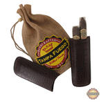 Tampa Fuego Cigar Case Crocodile Grain Leather Brown Two Finger Father's Day