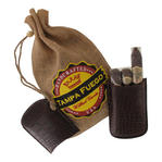 Tampa Fuego Cigar Case Crocodile Grain Genuine Leather Brown Robusto Fathers Day Thumbnail 3