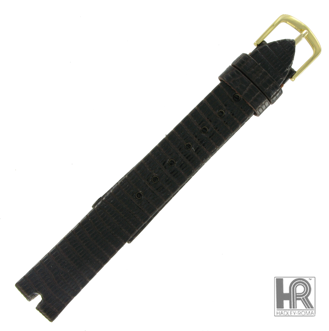 Hadley Roma MS972 20mm Brown Java Lizard Watch Strap Band