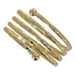 Ky & Co Children's Juniors Size Coil Spiral Bangle Bracelet Gold Tone Etched USA Made Thumbnail 2