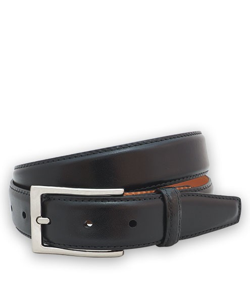 "Bryant Park Monte Carlo Leather Alligator Loop Men Belt 1 1/4"" Black Sz 32 SPO"