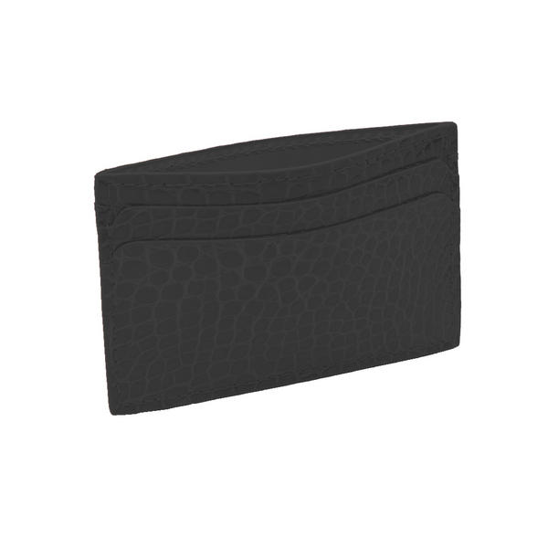 Hadley Roma Made In USA Genuine Alligator Credit Card Case Black SPO