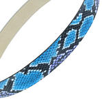 "Snazzy Snake Print Jean Belt Blue Purple Black Pink Fits 28-32"" S Thumbnail 3"
