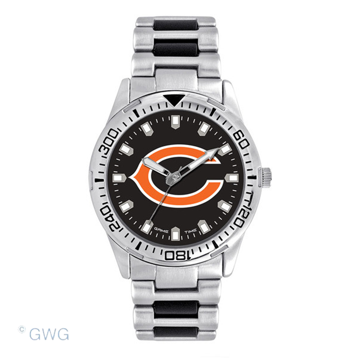 chicago bears time silver tone sport team mto