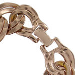 Ky & Co Rose Gold Tone Chunky Double Link Cable Chain Bracelet Wide Thumbnail 2