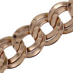 Ky & Co Rose Gold Tone Chunky Double Link Cable Chain Bracelet Wide Thumbnail 3