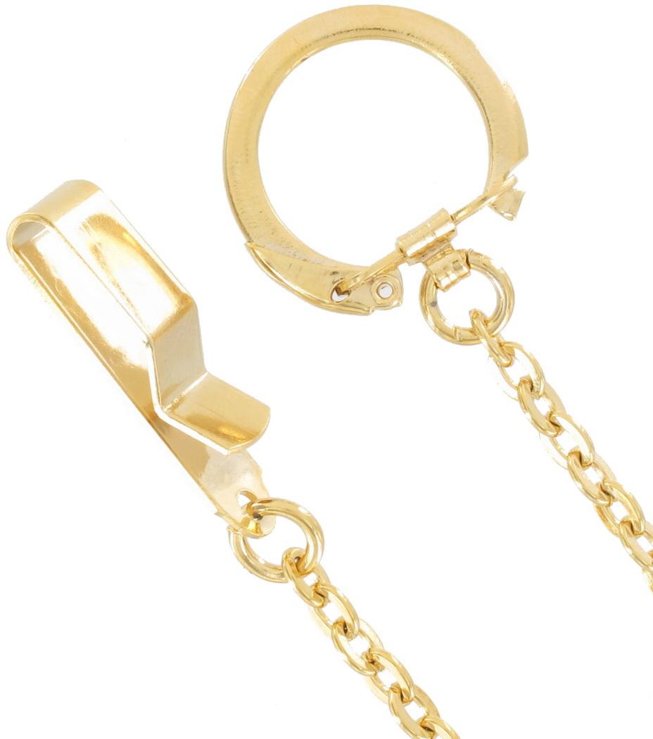 Key Chain Men S Yellow Gold Belt Hook Key 20 Quot Extra Long