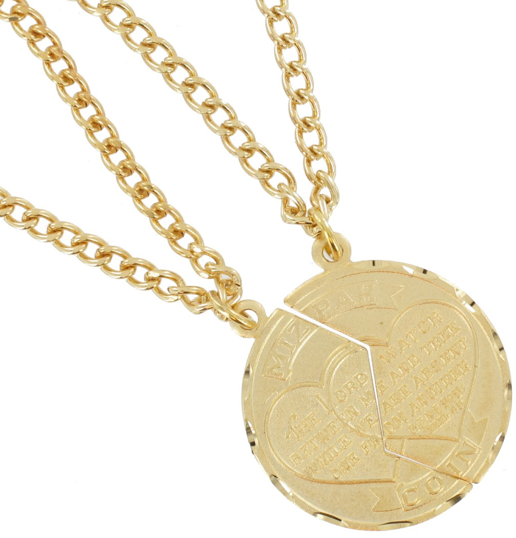 Necklace Bff Set New Mizpah Coin Pendant Best Friends Genesis Fancy Gold Tone Thumbnail 2