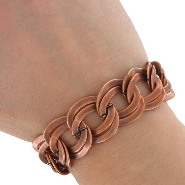 Ky & Co Copper Ox Chunky Double Link Chain Bracelet