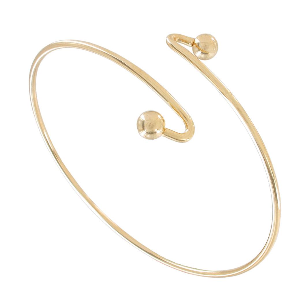 Gold Band Bracelet: Greek Goddess Cuff Bracelet