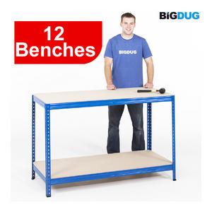 Heavy-Duty-Industrial-Workbench-Steel-Melamine-Or-Chipboard-300kg-Garage