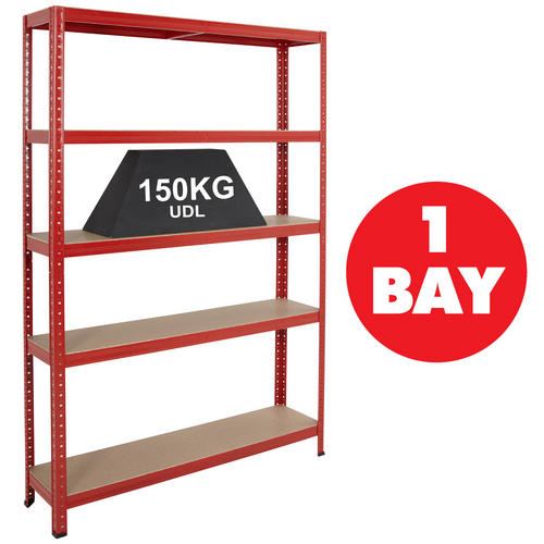 Boltless-Garage-Shelving-Steel-Storage-5-Shelf-Racking-System-1780mm-High-BiGDUG