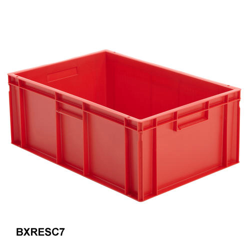 Red Euro Stacking Containers Plastic Storage