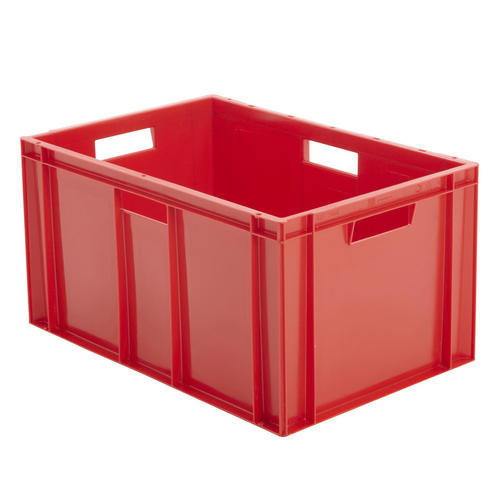 Industrial Stacking Containers : Red euro stacking containers plastic storage