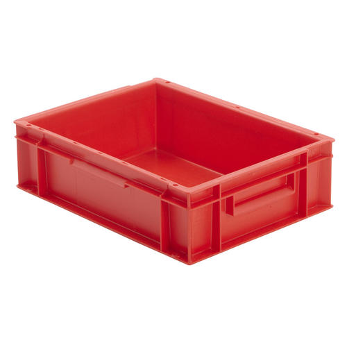 Industrial Stacking Containers : Stackable red euro storage containers plastic