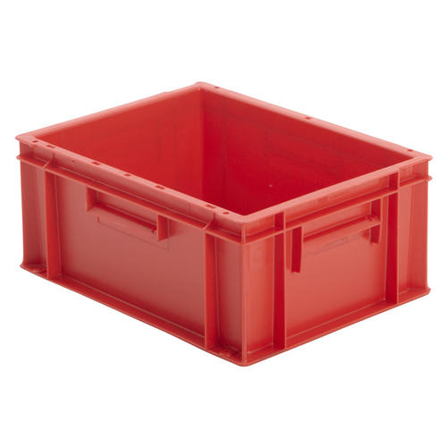 Industrial Stacking Containers : Stackable red euro storage containers plastic industrial