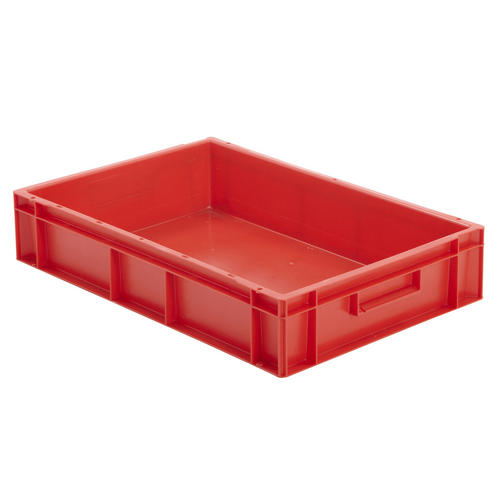Stackable Red Euro Storage Containers Plastic Industrial ...