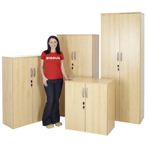 Beech-Office-Cupboard-Storage-Lockable-Cabinet-Home-Filing-Shelving-4-Sizes