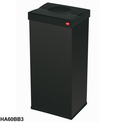 hailo 60l litre waste bin swing lid large steel kitchen. Black Bedroom Furniture Sets. Home Design Ideas