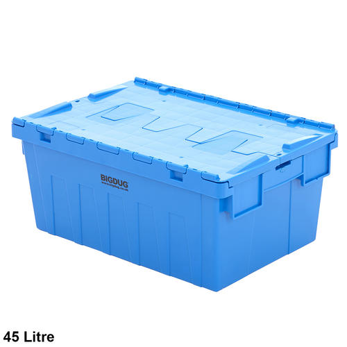 Storage-Containers-Tote-Boxes-Attached-Lid-Storage-Box-  sc 1 st  eBay & Storage Containers Tote Boxes Attached Lid Storage Box Stackable 3 ...