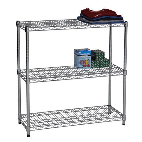 chrome shelving 900mm high 3 level retail display storage. Black Bedroom Furniture Sets. Home Design Ideas