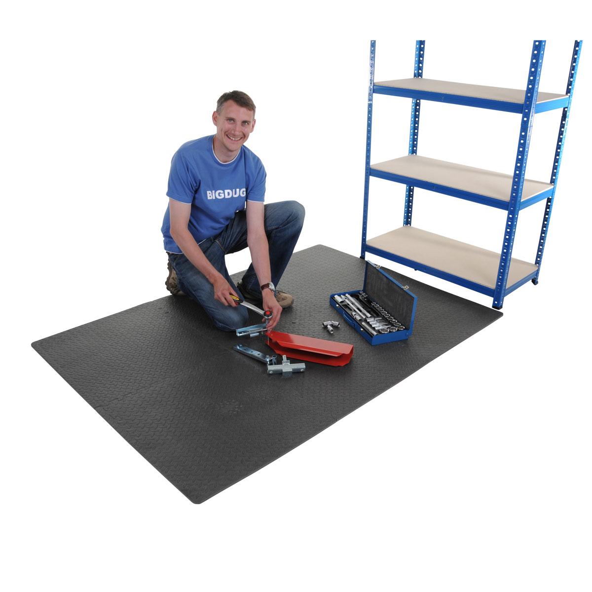 6X Garage Interlocking Floor Tile Set Workshop Flooring