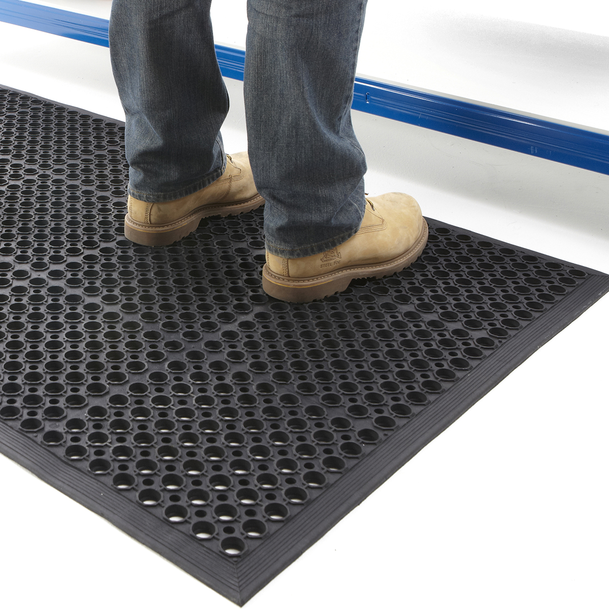 Large Door Mat Outdoor Indoor Entrance Rubber Anti Fatigue 0.9 x ...